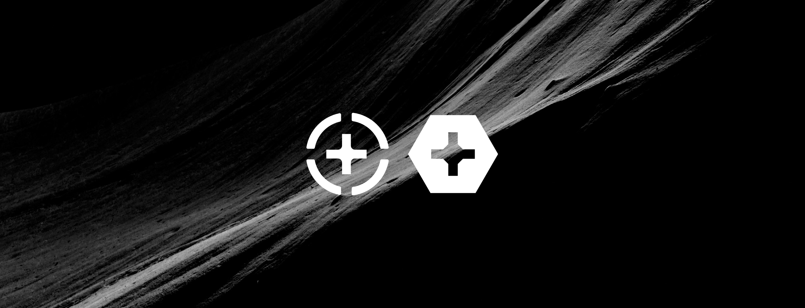 Make brand icons over abstract dark background